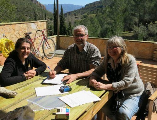 Signatura d'un nou acord de custòdia al Barranc de la Conca. Finca Penyaflor.