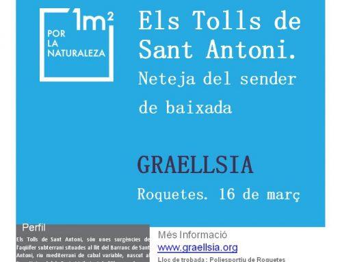 Libera. 1m2 per la Natura als Tolls de Sant Antoni. 16 de març.