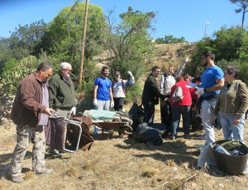Jornada de voluntariat ambiental per Recuperar el barranc dels Reguers